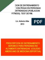 T5 Prescripcion Entrenamiento Aerobico y Con Pesas en Fitness