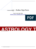 Article - Astrology - Zodiac Sign Facts