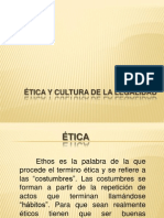 Ética y Cultura de La Legalidad