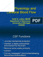 CSF and Cerebral Blood Flow