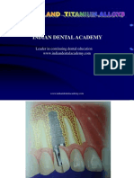 Titanium and Titanium Alloys / orthodontic courses by Indian dental academy