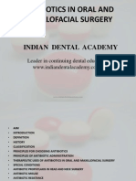 Antibiotics in Oral and Maxillofacial Surgery / orthodontic courses by Indian dental academy