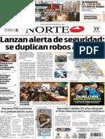Periódico Norte de Ciudad Juárez edición impresa del 17 mayo de 2014