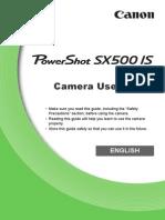 PowerShot SX500 IS Camera User Guide