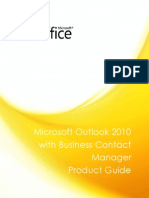 Microsoft Outlook 2010 With Business Contact Manager Product Guide