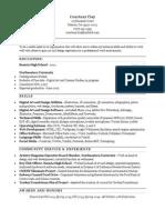 Resume -Spring 2014