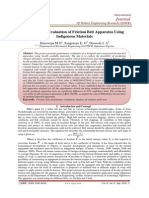 Performance Evaluation of Friction Belt Apparatus Using 