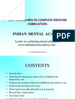 Lab Procedures in Complete Denture Prosthodontics / orthodontic courses by Indian dental academy