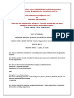 SMU MBA SPRING 2104 HCS SEM-3