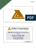 Delta FY14 Presentation