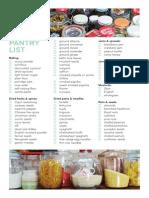 Pantry List