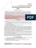 An Analytical Study of International Standards on Minority 