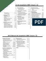 2012 Canyon Manual Propietario