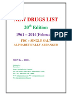 New Drug List 1961 to Feb 2014 Pharmadocx 31.03.2014