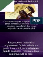 Răspunderea materială în dreptul muncii