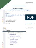 D21-Kongress AG11 Migration Von TESTA-D Ins DOI-Net 20091106