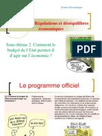 Sous Theme 2comment Le Budget de l Etat Permet Il d Agir Sur l Eco