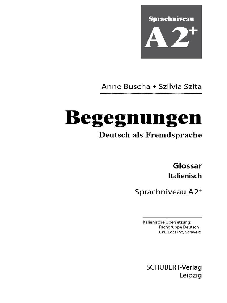 A2 Glossar Deutsch-Italienisch