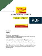 "Management Project ""nirala Sweets"""