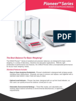 Pioneer Series Analytical and Precision Balances Data Sheet