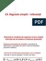 C4 Regresie Simpla - Inferenta