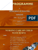 Nursing Care of Children with Burns