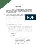 (1) Written Arguments - Tax Year 2008