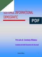 sistemul informational demografic