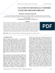 Machinability Evaluation of Cryogenically Tempered Die Steel in Electric Discharge Drilling