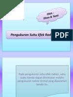 Presentasi Pengukuran Suhu Efek Radiasi