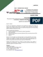 Program Need Analysis Questionnaire for DBK Program