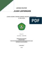 Laporan Kuliah Lapangan Konsentrasi Geofisika - 11 Mei 2014