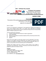 Program Need Analysis Questionnaire for DKA Program