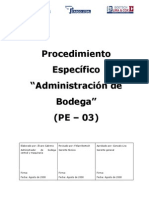 Administracion de Bodega