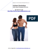 Kickbutt Metabolism the Truth About Permanent Fat Loss