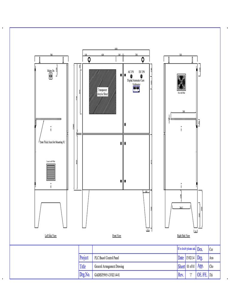 Plc Control Panel Diagram Reference