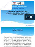 Cambio y Compresibilidad Determinación de La Presion de Pre Consolidacion 2013-2