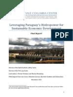 Jeffrey Sachs - Leveraging Paraguays Hydropower for Economic Development FINAL REPORTt