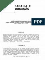 Palma Filho, João Cardoso, Cidadania e Educação.