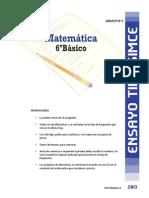 Ensayo3 Simce Matematica 6basico 2013