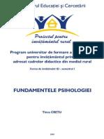 Fundamentele Psihologiei _Tinca Cretu