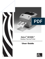 Printer Zebra Gc 420 t Mini Printer