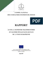 Expertiza Transfrontaliera in Materie Penala