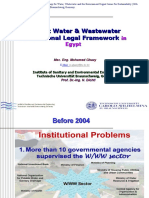 Current Water&Wastewater Institutional Legal Framework t in Egypt_Mohamed Ghazy