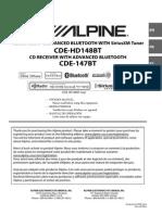 Manual Alpine CDE-HD148BT español