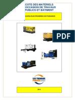 Cote Des Materiels Doccasion de Tp Et Batiment - Groupes Electrogenes de Puissance 2012-06!12!10!07!9 702