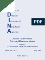Adina Command Referece Manual