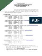 ECE Course Information 2014