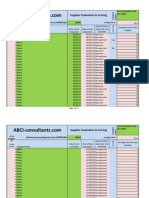 Supplier Evaluation & Scoring Calculator Log
