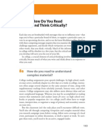 8 How Do You Read and Think Critically